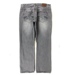 Flypaper Mens Straight Leg Jeans Size 36 x 32 Gray